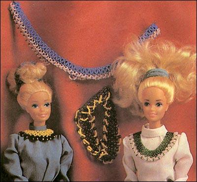 Ожерелье для Барби из бисера и бус.