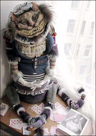Коллекционная интерьерная кукла Чеширский Кот Анны Сажиной