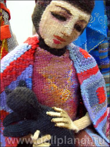Художественная кукла гобелен Марии Бохан