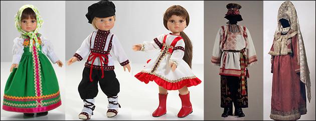 Русский костюм для кукол
