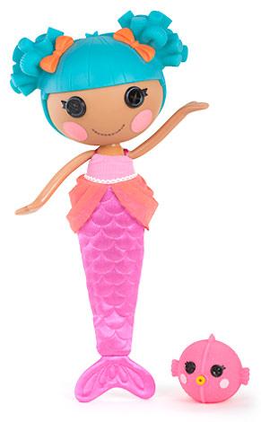 Кукла Лалалупси Русалочка с хвостом и рыбкой