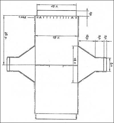 Рисунок для вязания в полоску