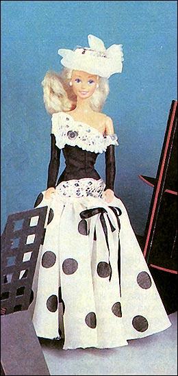 в горошек для куклы Барби