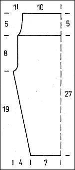 Схема вязания леггинсов - размеры
