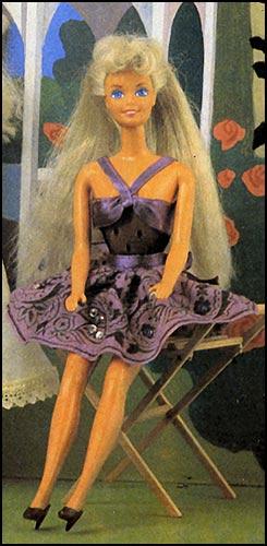 Описание: пышное платье для барби выкройки.