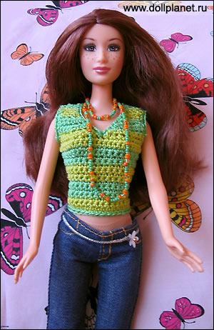 вырезом для куклы Барби