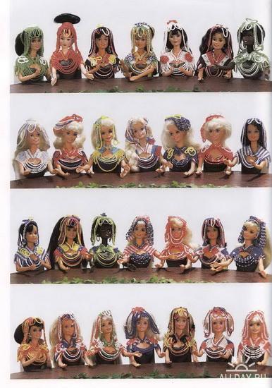 Одежда из бисера на куклах